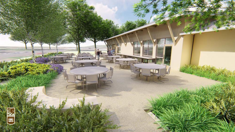 Artist S Rendering Of Cscc New South Patio Curly Under Construction